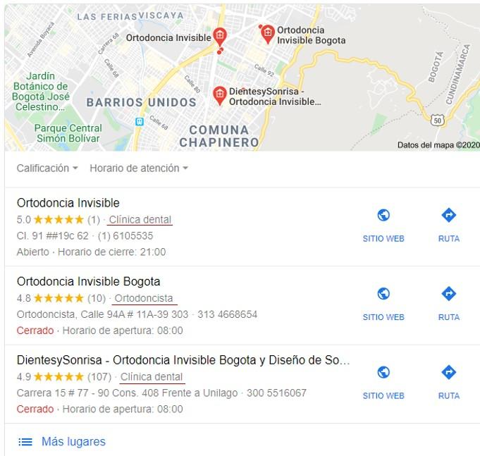 Categoría Google Mi Negocio
