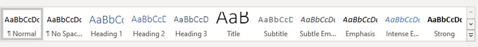 Encabezados h1, h2 y h3 en Microsoft Word