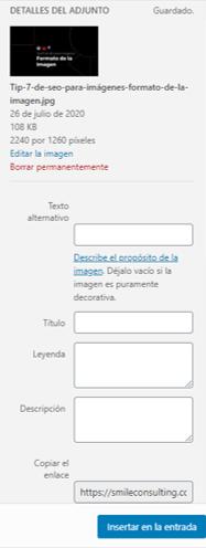 Texto Alt en WordPress