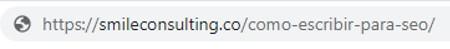 URL de cómo escribir para SEO